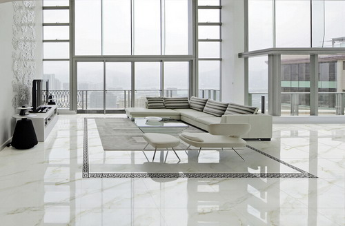 We have created the porcelain tiles with calacatta gold look. More  important is we offer polished and matte finishes